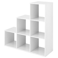 6 Section Step Organizer White