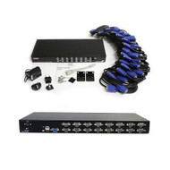 16 Port 1U USB KVM Switch Kit