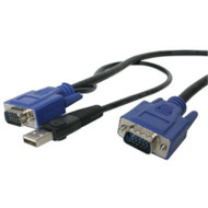 15' 2 in 1 USB KVM Cable