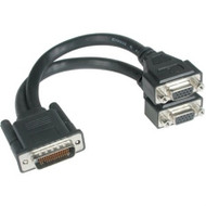 """9"""" Lfh59 M To 2 VGA F Cable"""