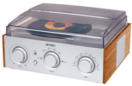 3-Speed Stereo Turntable with AM/FM