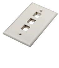 3 PORT FACE PLATE WHITE