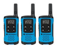 T100TP 3 Pack 16 Mile Range Blue Radios