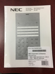 For 24-Button Telephones / Gray (Pkg 25)