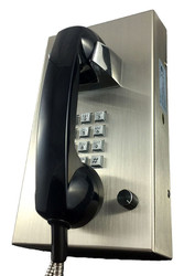 Stainless Steel Phone with Armored Cord