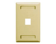 FACEPLATE ID 1-GANG 1-PORT IVORY