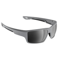 H2Optix Ashore Sunglasses Matt Grey, Grey Silver Flash Mirror Lens Cat. 3 - AntiSalt Coating w\/Floatable Cord [H2006]