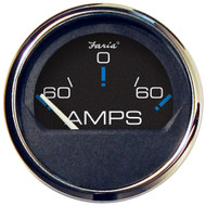 """Faria Chesapeake Black SS 2"""" Ammeter Gauge - -60 to +60 AMPS [13736]"""