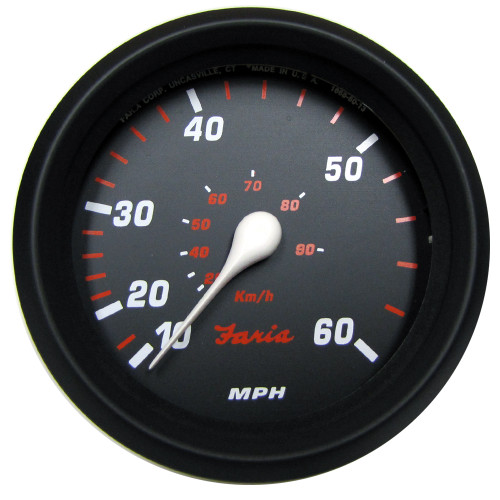 "Faria Professional Red 4"" Speedometer (60 MPH) [34611]"