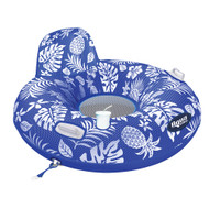 Aqua Leisure Supreme Lake Tube Hibiscus Pineapple Royal Blue w\/Docking Attachment [APL20458]