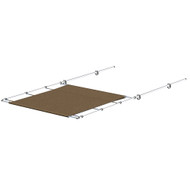 """SureShade PTX Power Shade - 57"""" Wide - Stainless Steel - Toast [2021026262]"""
