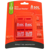 S.O.L. Survive Outdoors Longer Rescue Howler Whistle - 2 Pack [0140-0010]
