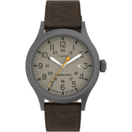 Timex Expedition Scout - Khaki Dial - Brown Leather Strap [TW4B23100JV]