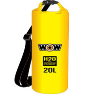 WOW Watersports H2O Proof Dry Bag - Yellow 20 Liter [18-5080Y]