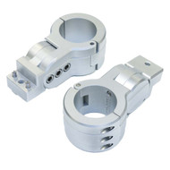 """PTM Edge Board Rack Mounts - 2.38"""" Pipe Clamp - Silver [P13198-2380TEBCL]"""