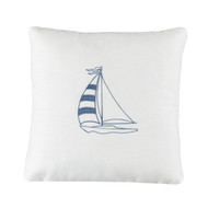 SAVANNAH BOAT EMBROIDERED PILLOW