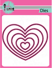 Double Stitched Heart Dies