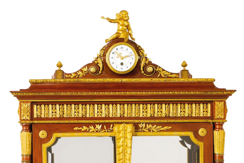 Antique Furniture French Louis Xvi Gilt Bronze Mounted Marquetry
