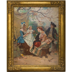 A Painting Depicting a Garden Party