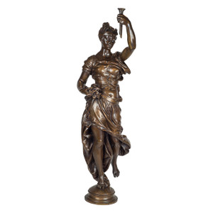 A Monumental Patinated Bronze Allegorical Sculpture by Clement Leopold