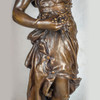 Monumental Patinated Bronze Allegorical Sculpture