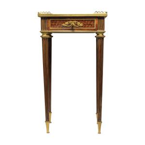 Louis XVI-Style Mahogany Side Table by Joseph-Emmanuel Zwiener