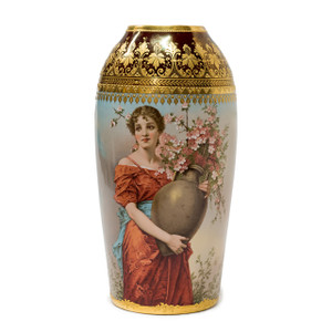 A Stunning Royal Vienna Gilt-Mounted Porcelain Portrait Vase