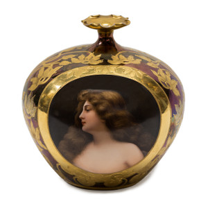 A Exquisite Royal Vienna Gilt-Mounted Porcelain Portrait Vase