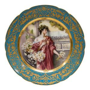 A Fine Quality Royal Vienna Portrait Cabinet Plate