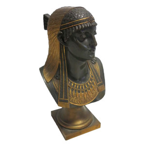 A Fine Gilt and Patinated Bronze Bust of an Egyptian Princess