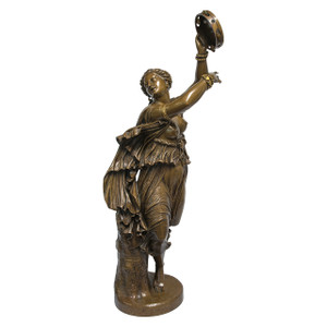 A Finely Casted Patinated Bronze Sculpture of a Dancer Zingara by F. Barbedienne