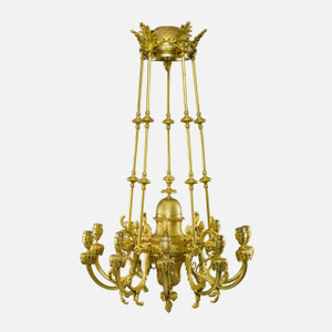 Gilt Bronze Ten-Light Chandelier