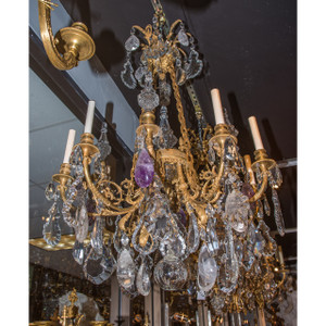 A Fine Quality French Gilt Bronze Eight-Light Chandelier