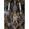 Gilt Bronze and Crystal Twelve-Light Chandelier