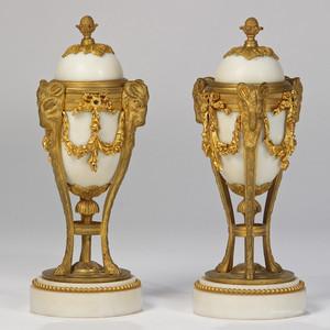 A Fine Pair of Louis XVI Style Cassolettes