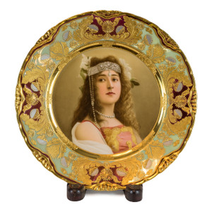 A Stunning Royal Vienna Painted and Gilded Porcelain Cabinet Plate