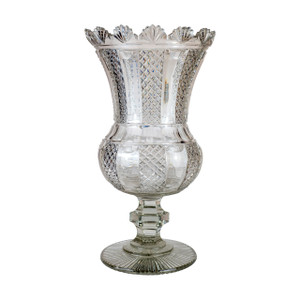 A Fine French Cut-Glass Vase