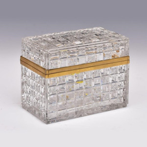 French Bronze Mounted Cut Glass Casket