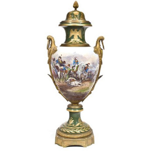 A Very Fine Large Napoleonic Sèvres Style Porcelain Urn