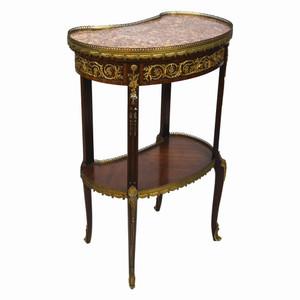 A Fine Louis XVI-Style Ormolu Mounted Kidney-Shaped Side Table