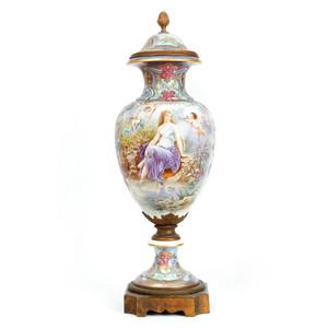 A Fine Quality Monumental Sèvres Art Nouveau Porcelain Urn and Cover