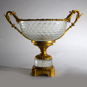 Elegant French Ormolu and Glass Centerpiece