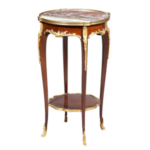 Fine Quality Louis XV Style Gilt-Bronze Mounted Mahogany Table