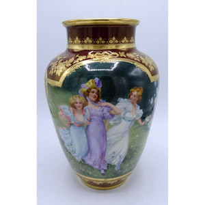 Fine Quality Painted and Gilt Decorated Royal Vienna Porcelain Vase