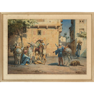 A Fine Orientalist Watercolor Painting by W. Testas