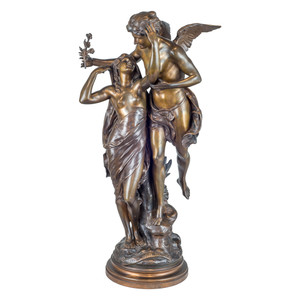 Fine Quality Patinated Bronze Group by Emile Louis Picault