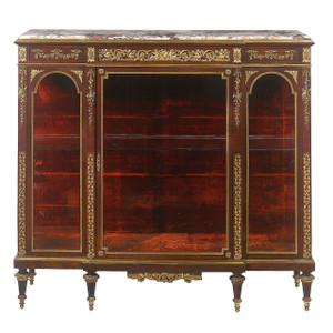 A 19th century French gilt bronze-mounted kingwood vitrine