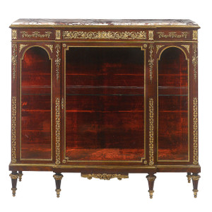 French gilt bronze-mounted kingwood vitrine