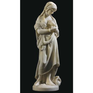 A Fine Quality White Marble Statue Carving by Romanelli