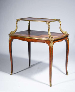 A Fine Walnut and Bronze mounted Dessert Table